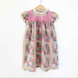 Vintage Handmade patchwork Prairie Dress 18-24 M